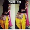Designer Black & Yellow Cotton Unstitched Embroidered Party Wear Patiala Suit - A10 ( MJ-DC )