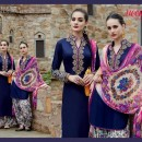 Designer Blue Pure Satin Cotton Embroidered Party Wear Salwar Suit - A2-HEER BLUE ( MJ-DC )