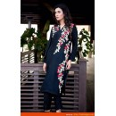Designer Navy Blue Embroidered Goegette Party Wear Pakistani Suit  - A94 ( MJ-DC )