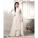 Designer White Embroidered Georgette Fancy Party Wear Palazzo Suit - A67 LT 75012 ( MJ-DC )