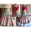 Bollywood Replica - Designer Pink & White Embroidered Wedding Wear Lehenga Choli - KT-2004 ( MJ-KT-Lehenga )