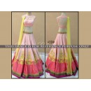 Bollywood Replica -  Designer Pink & Yellow Banglori Silk Embroidered Lehenga Choli - KT-2017 ( MJ-KT-Lehenga )