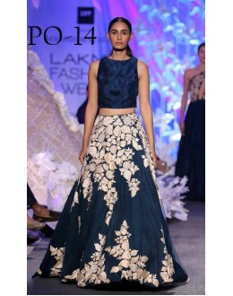 Bollywood Replica - Designer Blue Silk Lehenga Choli - PO-14