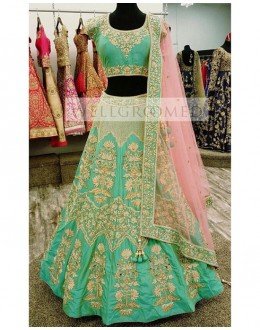Bollywood Replica - Bridal Green Banarasi Lehenga Choli - Well Groomed