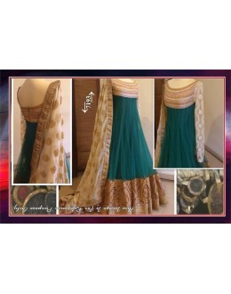 Bollywood Replica- Designer Sea Green Heavy Embroidered Party Anarkali Suit -7193 ( MJ-9009 )