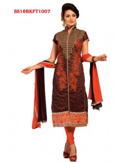 Ethnic Wear Brown Chanderi Cotton Salwar Suit  - SS16BKFT1007