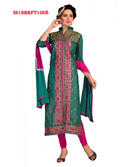 Festival Wear Green Chanderi Cotton Salwar Suit  - SS16BKFT1008
