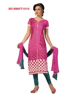 Office Wear Pink Chanderi Cotton Salwar Suit  - SS16BKFT1010