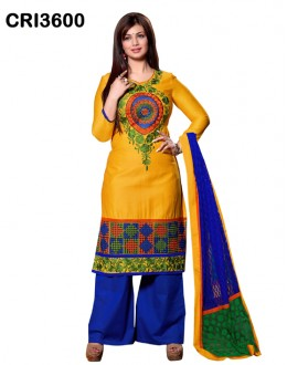 Ayesha Takia In Yellow Cambric Cotton Palazzo Suit - CRI3600