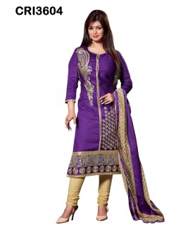 Ayesha Takia In Purple Cambric Cotton Salwar Suit - CRI3604