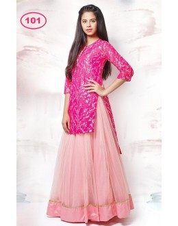 Kids Wear Pink Lehenga Choli - KDS101