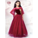 Kids Wear Beautiful Maroon Gown - KDS120