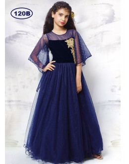 Kids Wear Beautiful Blue Gown - KDS120B