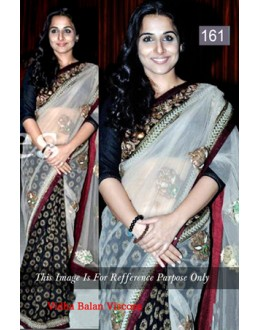 Bollywood Replica - Vidya Balan Designer Black & White Saree - 161