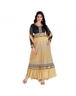 StarMart Women's Georgette Patch Work Anarkali Unstitched Dress Material - 36003