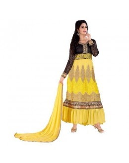 StarMart Women's Georgette Patch Work Anarkali Unstitched Dress Material - 36006