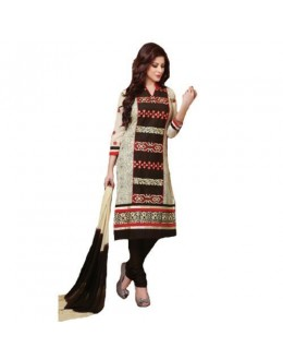 StarMart Womens Cotton Straight Dress Material of Selina - 4711