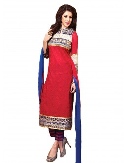 StarMart Women's Chanderi Cotton Unstitched Salwar Kameez Dress Material-9709
