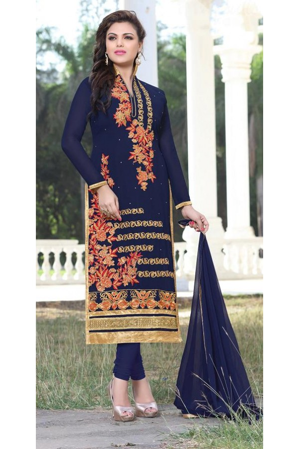 Designer Traditional Straight-cut Salwar Suit - 29377