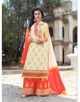 Designer Traditional Straight-cut Salwar Suit - 29378