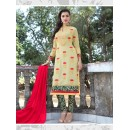 Designer Traditional Straight-cut Salwar Suit - 29380