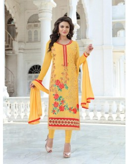 Designer Traditional Straight-cut Salwar Suit - 29381