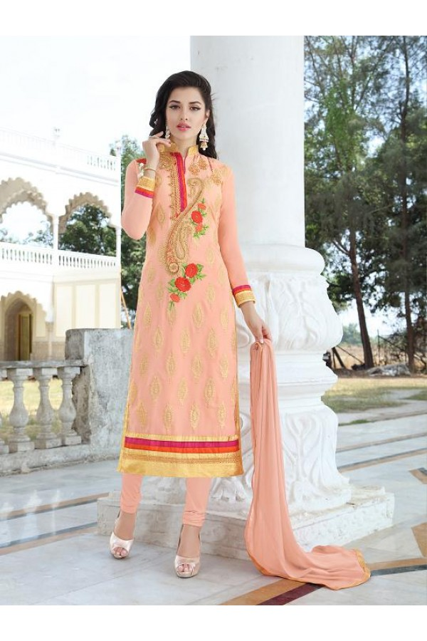 Designer Traditional Straight-cut Salwar Suit - 29382