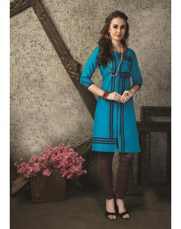 Readymade Multicolour Cotton Kurti  - 29463