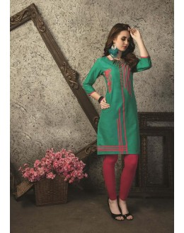 Readymade Multicolour Cotton Kurti  - 29468
