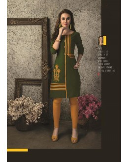 Readymade Multicolour Cotton Kurti  - 29473