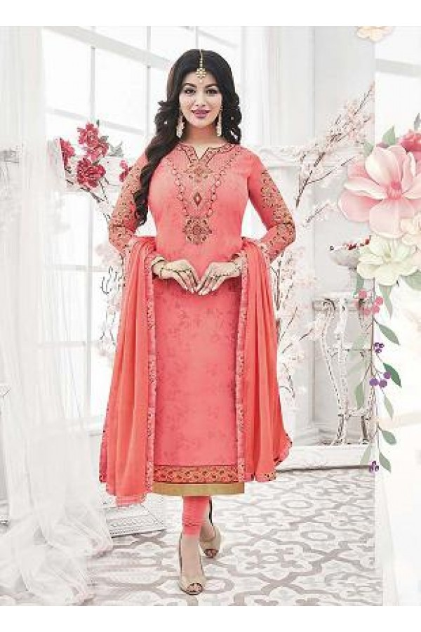 Designer Georgette with Embroiderd work Semi-Stitched Salwar Suit - 29507