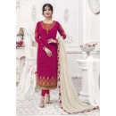 Designer Georgette with Embroiderd work Semi-Stitched Salwar Suit - 29508