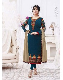 Designer Georgette with Embroiderd work Semi-Stitched Salwar Suit - 29509