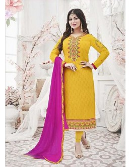 Designer Georgette with Embroiderd work Semi-Stitched Salwar Suit - 29512