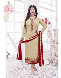 Designer Georgette with Embroiderd work Semi-Stitched Salwar Suit - 29513