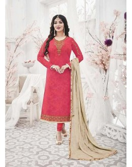 Designer Georgette with Embroiderd work Semi-Stitched Salwar Suit - 29514