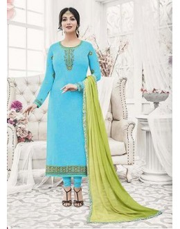 Designer Georgette with Embroiderd work Semi-Stitched Salwar Suit - 29515
