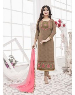 Designer Georgette with Embroiderd work Semi-Stitched Salwar Suit - 29516
