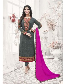 Designer Georgette with Embroiderd work Semi-Stitched Salwar Suit - 29518