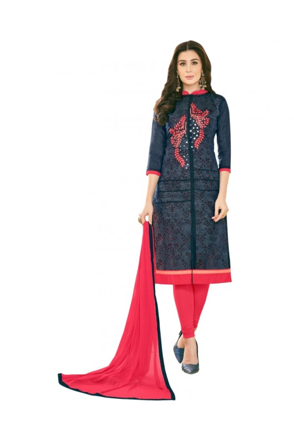 SUPRIYA 2 MODAL COTTON WITH HEAVY EMBROIDERY SALWAR SUIT - 2008