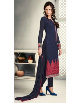 Ethnic Wear Navy Blue Georgette Salwar Suit - S-58