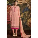 Office Wear Peach Georgette Churidar Suit - 3007