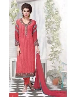Party Wear Peach Georgette Salwar Suit - 2705