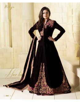 Party Wear Black Tapeta Lehenga Suit  - 99002