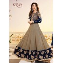 Shilpa Shetty Party Wear Grey & Blue Anarkali Suit - 5405-A