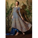 Designer Blue Georgette Embroidered Anarkali Suit - 8105-B