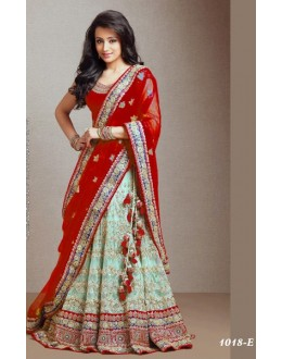 Bollywood Replica -  Traditional Red & Green Lehenga  - 1018-E