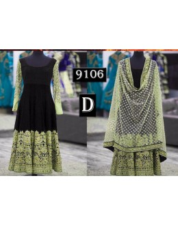 Bollywood Replica - Party Wear Black Anarkali Suit   - 9106-D