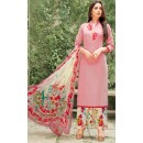 Party Wear Pink & White Satin Salwar Kameez - 7806