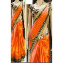 Bollywood Replica - Party Wear Orange Saree - 1024-A